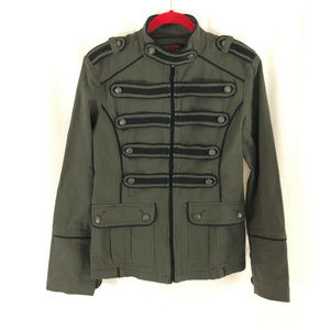 Tripp NYC Mens Jacket Military Punk Goth Olive
